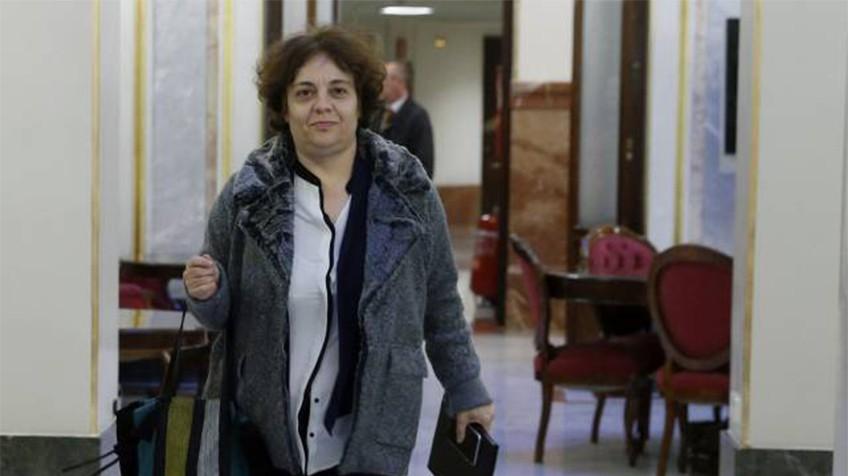 Gloria Elizo, presidenta de la comisión de garantías de Podemos. En vídeo: Pablo Echenique resta importancia a las discrepancias internas del partido y las valora positivamente. KIKO HUESCA / ATLAS