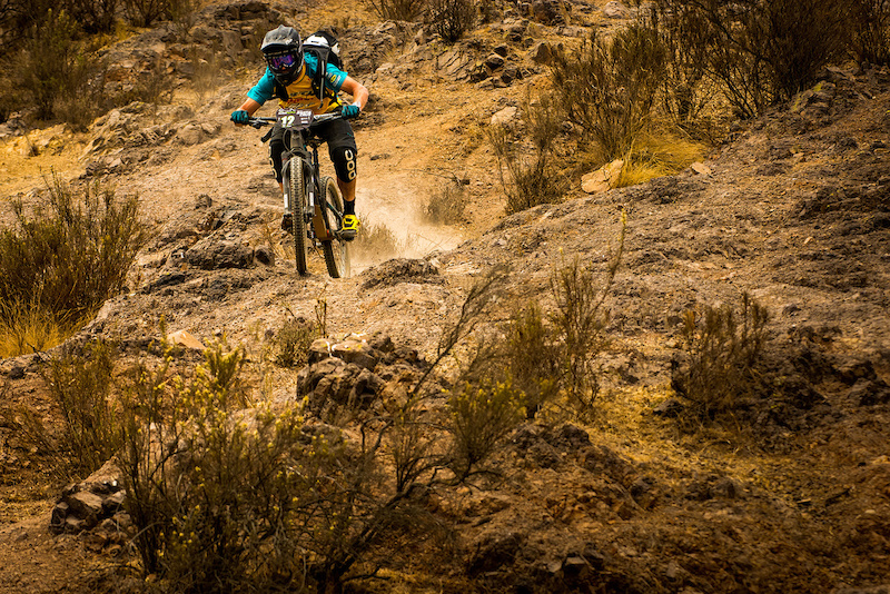 Nate hammering it home on day four of a very challenging Andes Pacifico race.