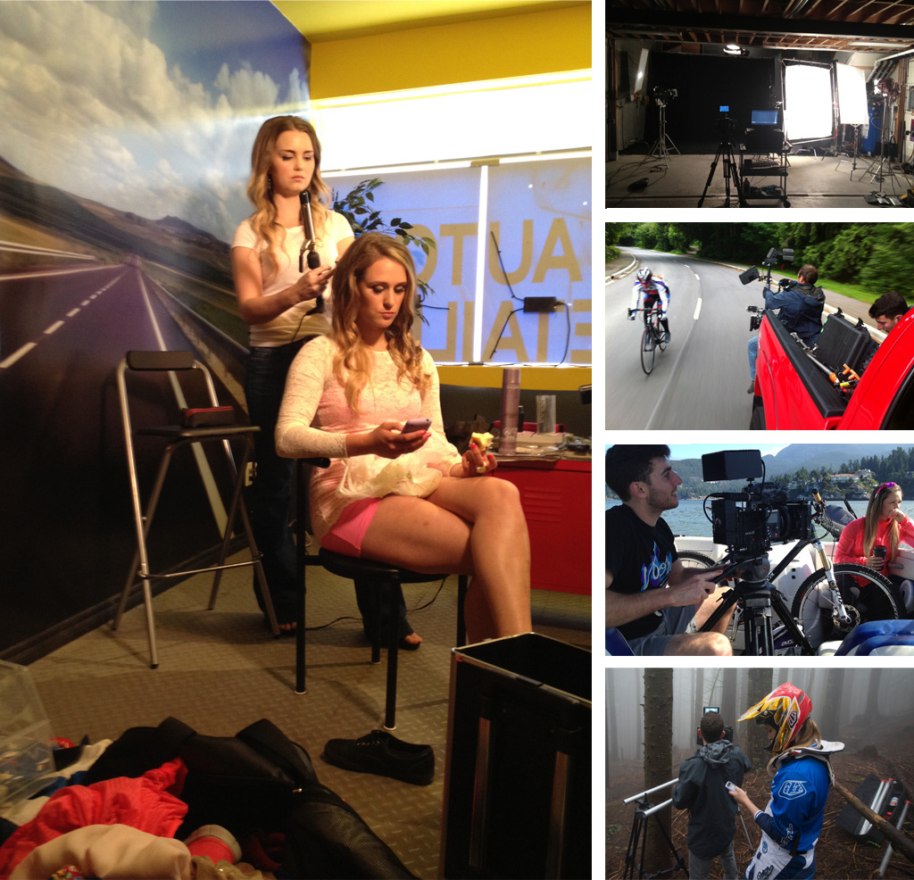 Behind the scenes on road bikes studio and boats.