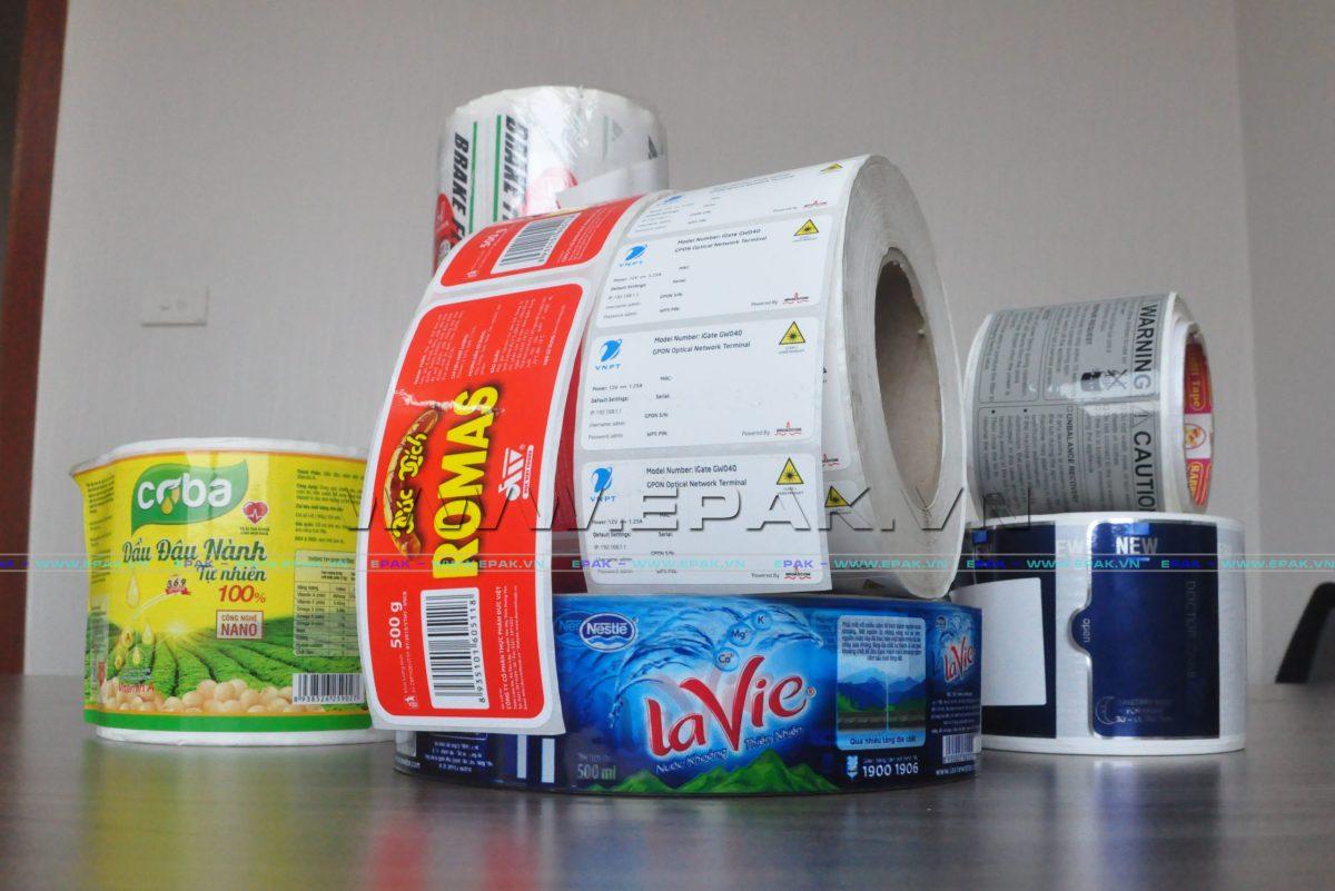 Các loại nhãn mác sản phẩm tại EPAK