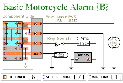 Two Relay-Based Motorcycle Alarm Circuits