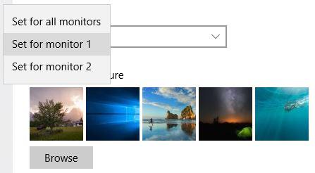 Windows 10 Impostare Uno Sfondo Diverso Per Ogni Monitor Emanuele