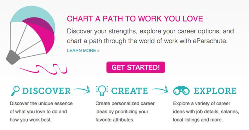 Online Career Exploration For Work You Love Inspired By What Color Is Your Parachute Eparachute