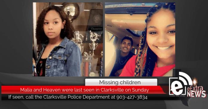 UPDATED: Missing children FOUND: Malia and Heaven were last