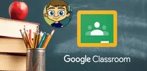 Chalkboard with Google Classroom Icon