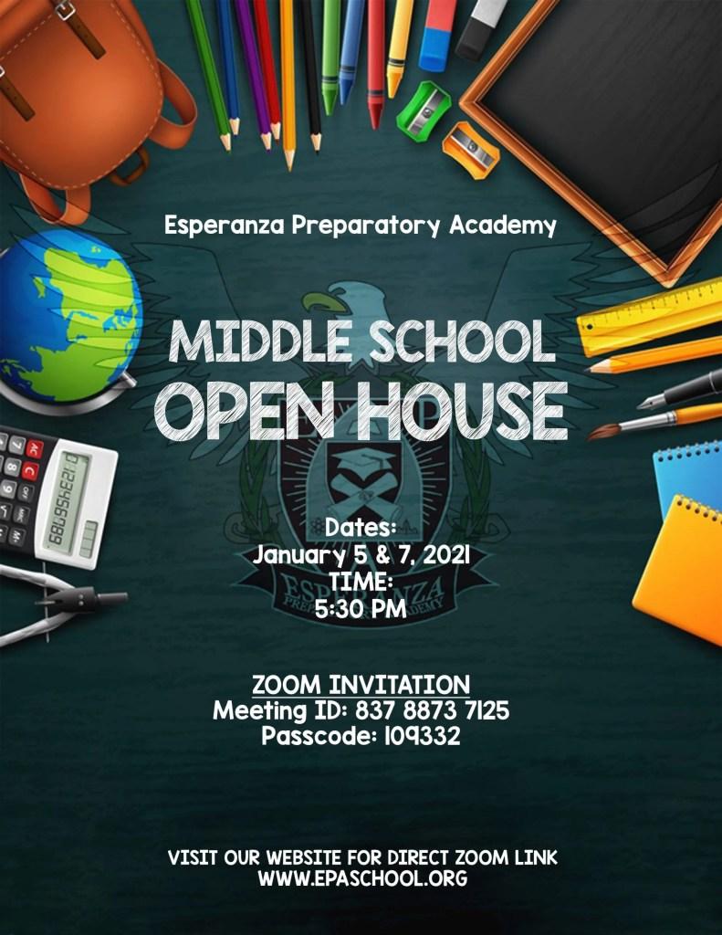 Middle School Open House