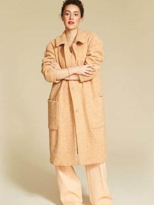 Пальто-оверсайз из букле