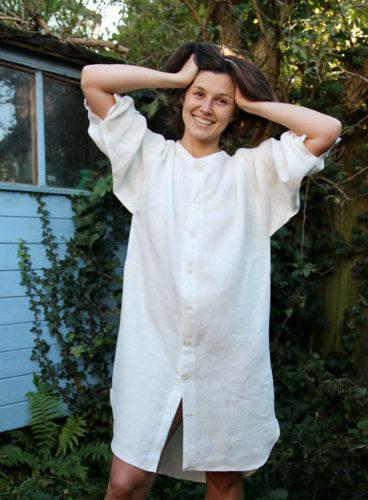 Бесплатная выкройка льняного платья