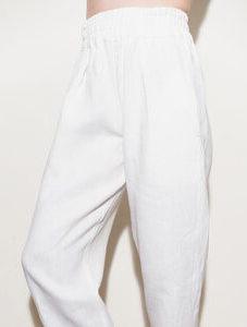 Простые льняные брюки