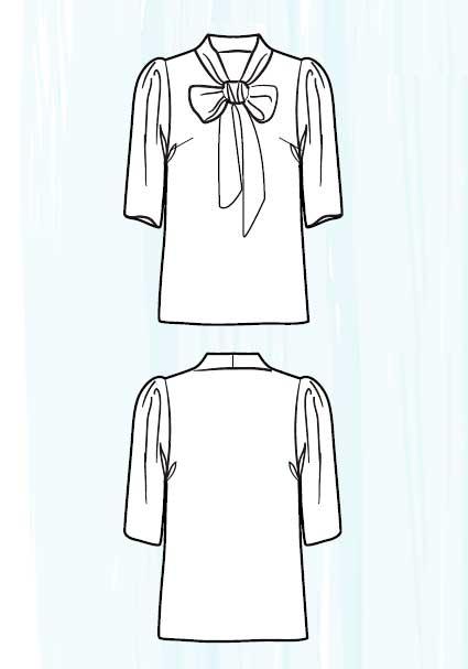 Блузка с бантом выкройка