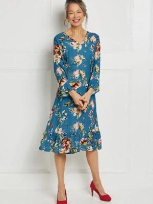 Платье-ампир с оборкой