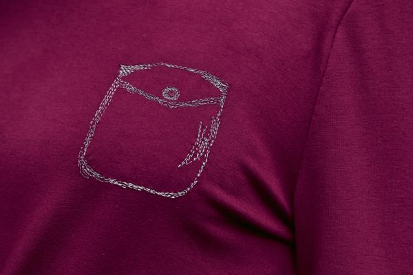 Пуловер со вставками на плечах