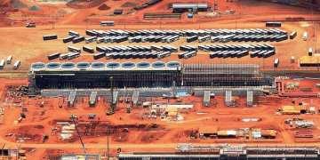 Obras na área de água de resfriamento da Unidade de Fertilizantes Nitrogenados (UFN) do Mato Grosso do Sul. Foto: Divulgação / janeiro 2014