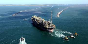 O FPSO P-58 foi a unidade com a  maior produção de petróleo e gás no mês de agosto, de acordo com dados da ANP. Foto: Agência Petrobras