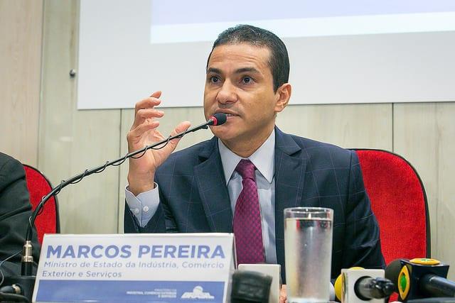 Marcos Pereira pediu demissão nesta quarta-feira Foto: Washington Costa/MDIC
