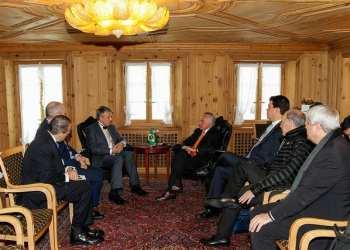 O presidente Michel Temer recebeu Ben Van Beurden, CEO da Shell, em Davos