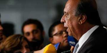Quebra queixo com a imprensa do Governador do Rio de Janeiro, Luiz Fernando Pezão. Foto: Beto Barata/PR