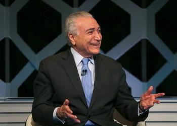 """Presidente da República, Michel Temer, durante gravação do Programa """"Poder em Foco"""", do SBT. Foto: Cesar Itiberê/PR"""