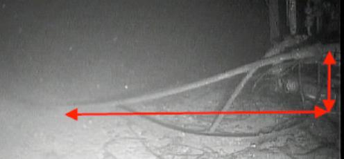 Figura 7: Foto de linhas no fundo do mar.