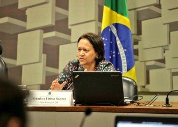 Contra aprovação da cessão onerosa, Fátima Bezerra (PT/RN) pede que projeto tramite em comissão presidida por ela / Foto: Agência Senado
