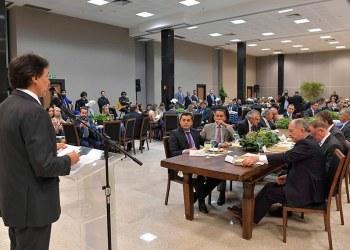 O presidente do Senado, Eunício Oliveira, participa de fórum com governadores eleitos e o presidente eleito Jair Bolsonaro / Foto: Marcos Brandão (Senado Federal)