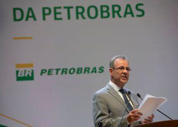 O ministro de Minas e Energia, almirante Bento Costa Lima Leite, durante posse do novo presidente da Petrobras, Roberto Castello Branco, no Rio de Janeiro. Foto:  Fernando Frazão/Agência Brasil
