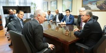 Bento Albuquer, Márcio Félix e executivos da Shell (6 de fevereiro)