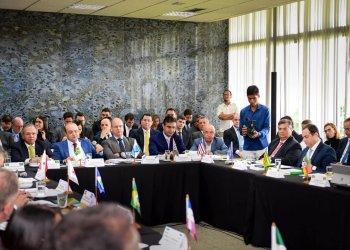 os Governadores com o ministro da Economia Paulo Guedes