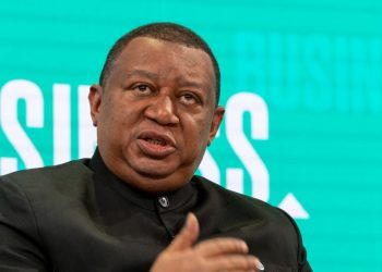 "Mohammad Sanusi Barkindo, Secretary-General, Organization of the Petroleum Exporting Countries (OPEC), Vienna speaking during the Session ""The New Energy Equation"" at the Annual Meeting 2019 of the World Economic Forum in Davos, January 23, 2019. Congress Centre - Sanada. Copyright by World Economic Forum / Sandra Blaser"