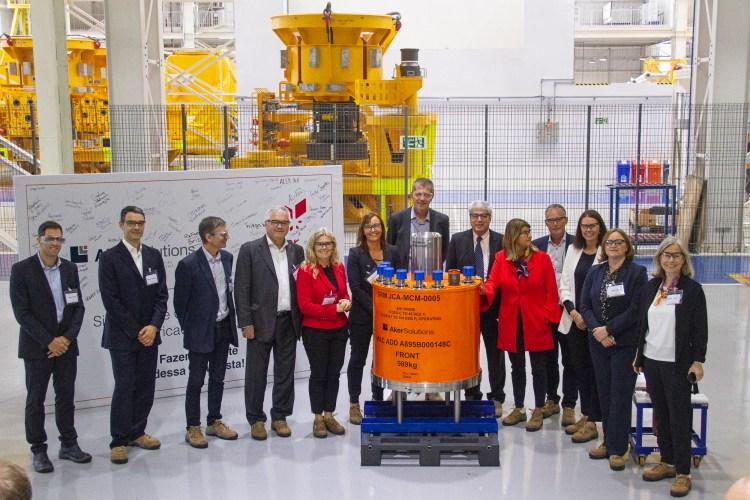 Cerimônia de entrega de equipamentos na fábrica da Aker Solutions no Paraná, para a Equinor