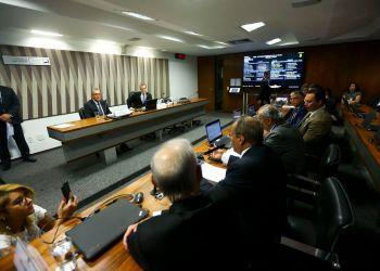 O ministro de Minas e Energia, Bento Albuquerque, participa de audiência pública na Comissão de Meio Ambiente do Senado.