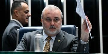 Plenário do Senado Federal durante sessão não deliberativa. rrÀ mesa, senador Jean Paul Prates (PT-RN) preside sessão.rrFoto: Marcos Oliveira/Agência Senado