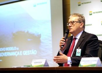 O ex-presidente da Petrobras, Aldemir Bendine, durante apresentação na sede da empresa. Foto: Stéferson Faria