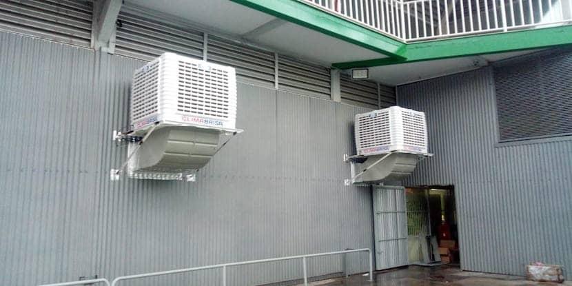enfriamiento evaporativo bodega