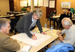The Foundation uses workshops such as this to identify community needs and priorities.