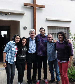 Jeremiah with young adults and Pastor Reinaldo Capparelli of Escalada, one of St. Andrews Presbytery's newest churches.