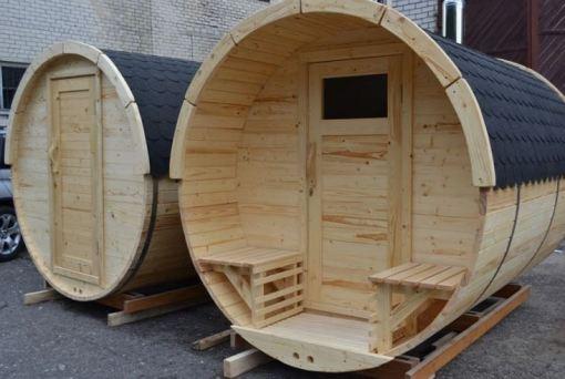 Sauna beczka drewniana