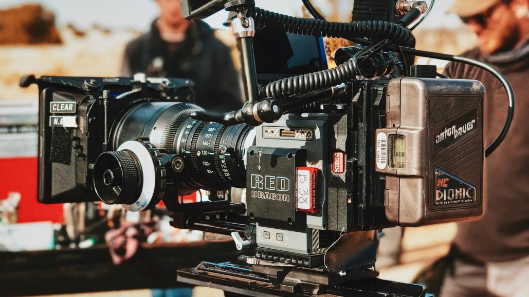 Video camera used by on-set manpower