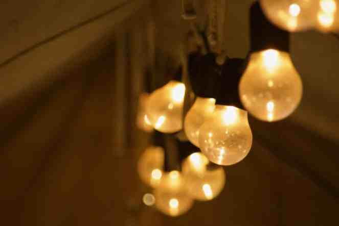 Lampen in de tent van Kamp Buitendoor
