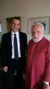 Immense honneur d'être reçu par le très vénérable Métropolite Georges Khodr