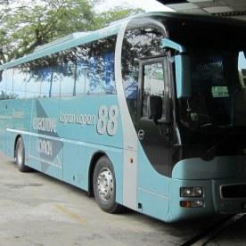 Bussi Singapore -> Kuala Lumpur välillä