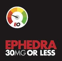 Ephedra 30mg or less