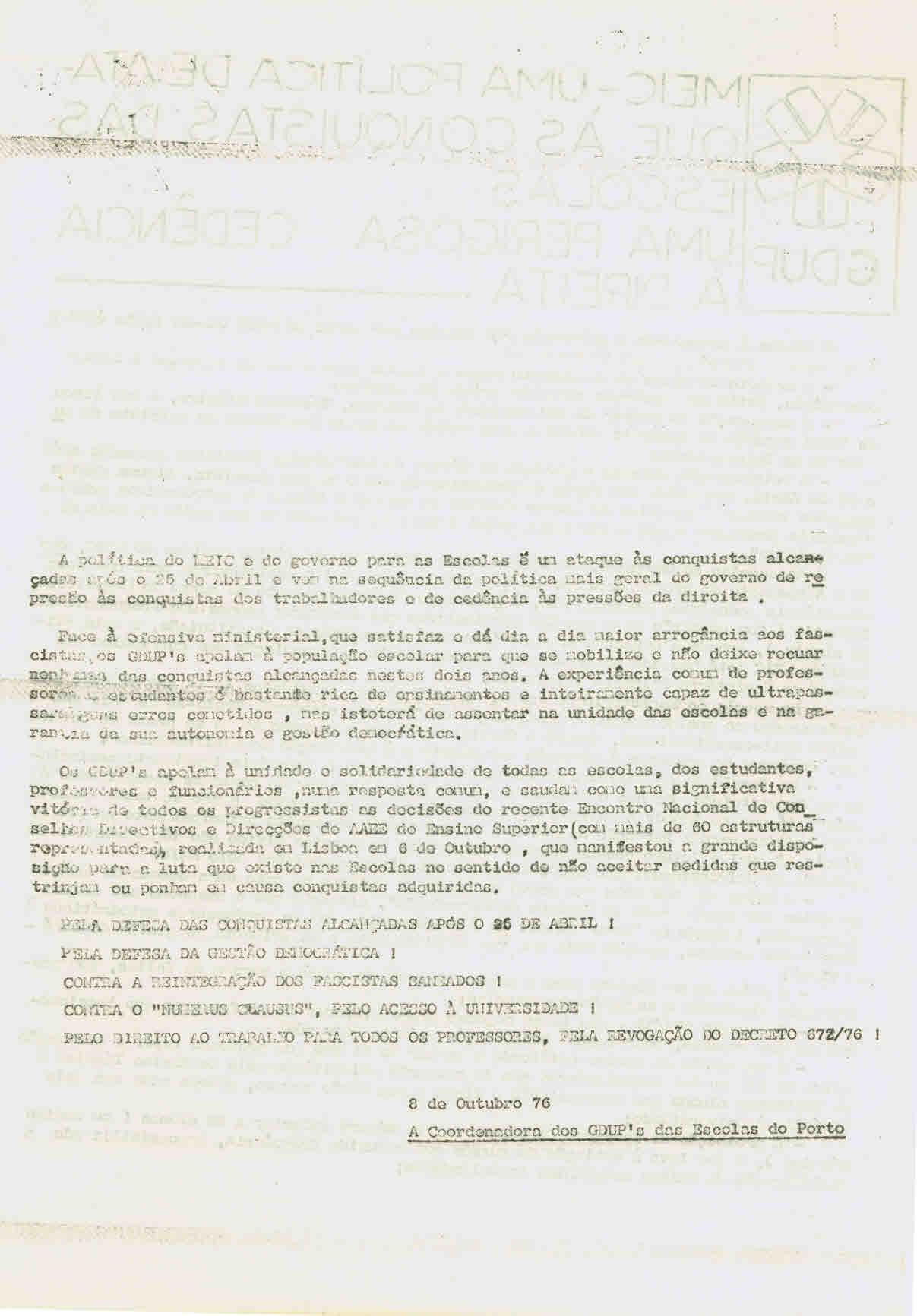 MEIC – Uma política de ataque às conquistas das escolas (2)