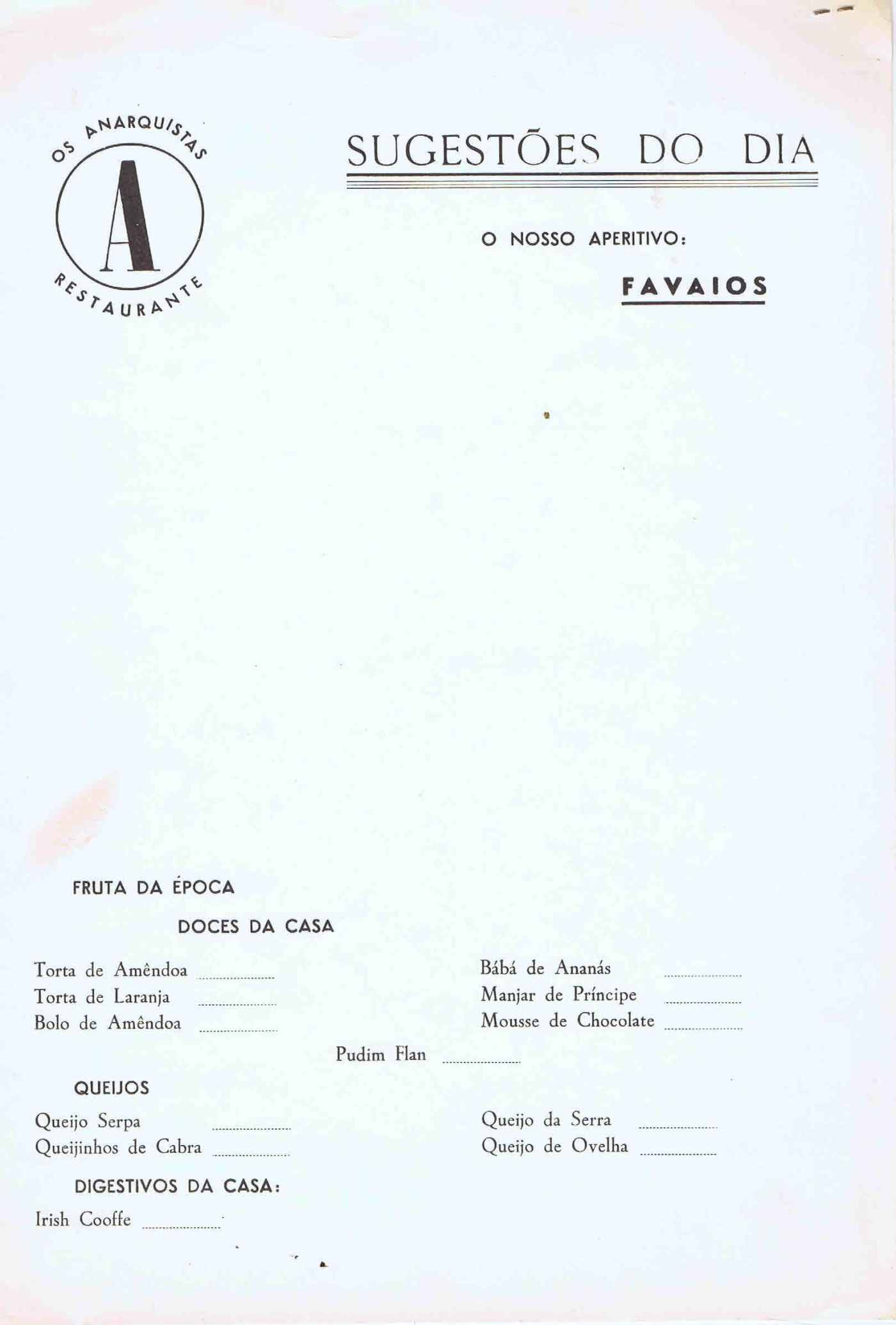 Restaurante os anarquistas menu de abril de 1975 ephemera restaurante os anarquistas menu de abril de 1975 ephemera biblioteca e arquivo de jos pacheco pereira fandeluxe Image collections