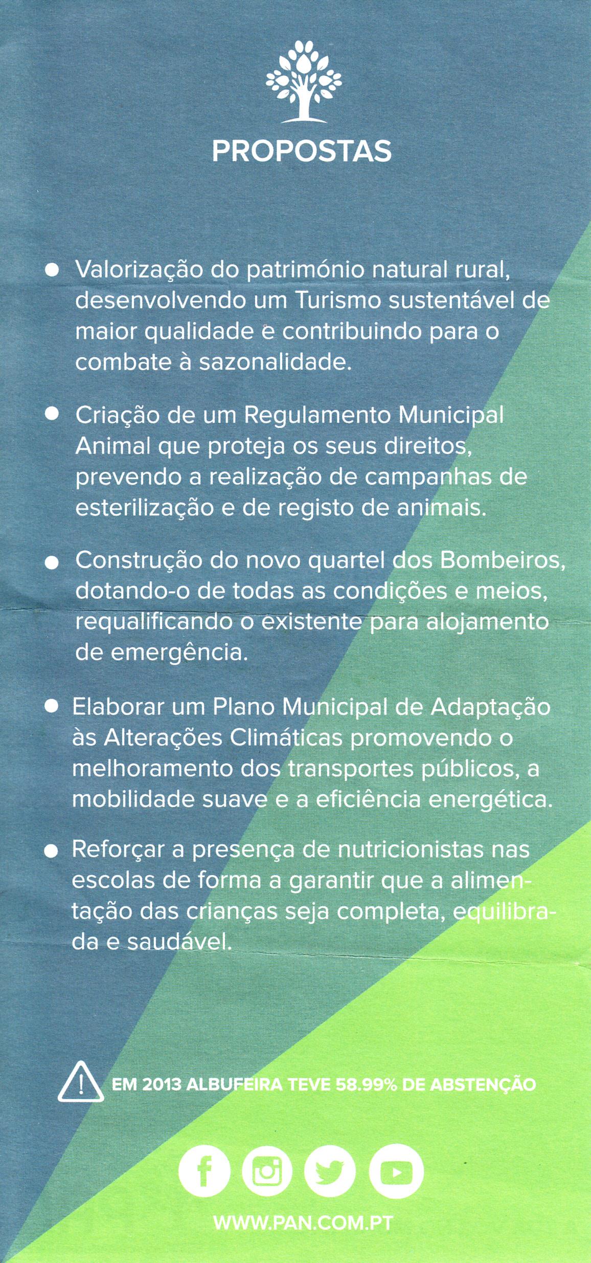 bb1c9cc40b9 ELEIÇÕES AUTÁRQUICAS DE 2017 – ALBUFEIRA – PAN ...