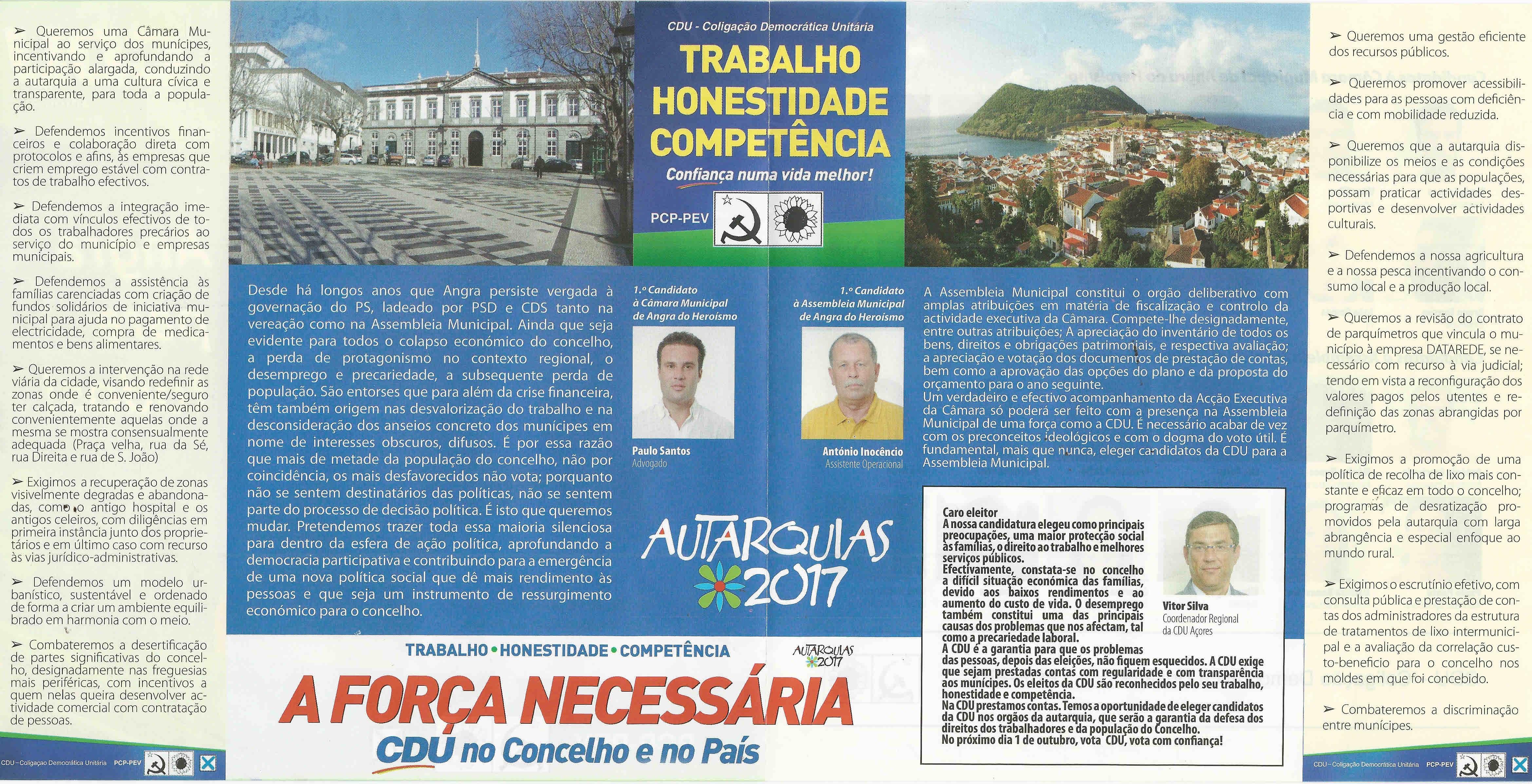 ELEIÇÕES AUTÁRQUICAS DE 2017 – ANGRA DO HEROÍSMO ... 8c547eb258b94