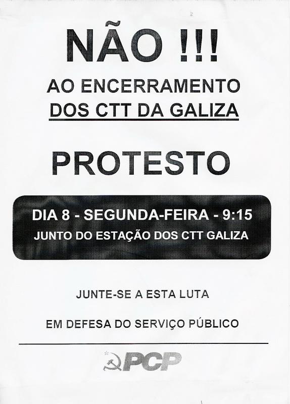 PCP_LUTA_ENCERRAMENTO_ESTÇ_CTT_GALIZA_PORTO