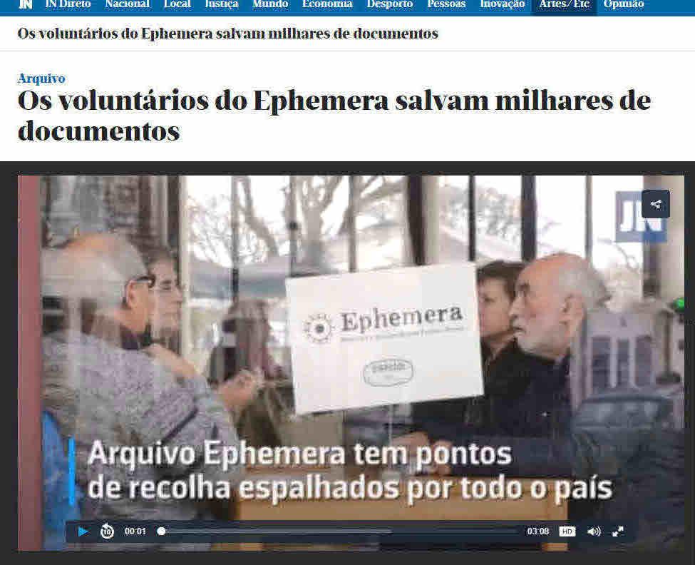 0e63fec72a315 HOJE NO JORNAL DE NOTÍCIAS REPORTAGEM SOBRE OS PONTOS DE RECOLHA DO ...