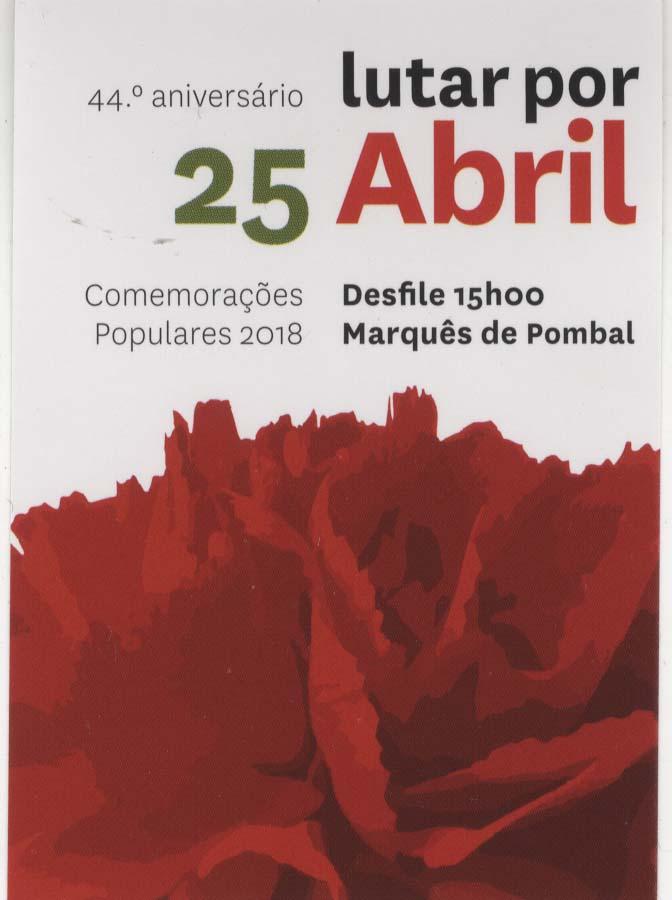 Manifestao popular do 25 de abril lisboa 2018 ephemera manifestao popular do 25 de abril lisboa 2018 fandeluxe Gallery