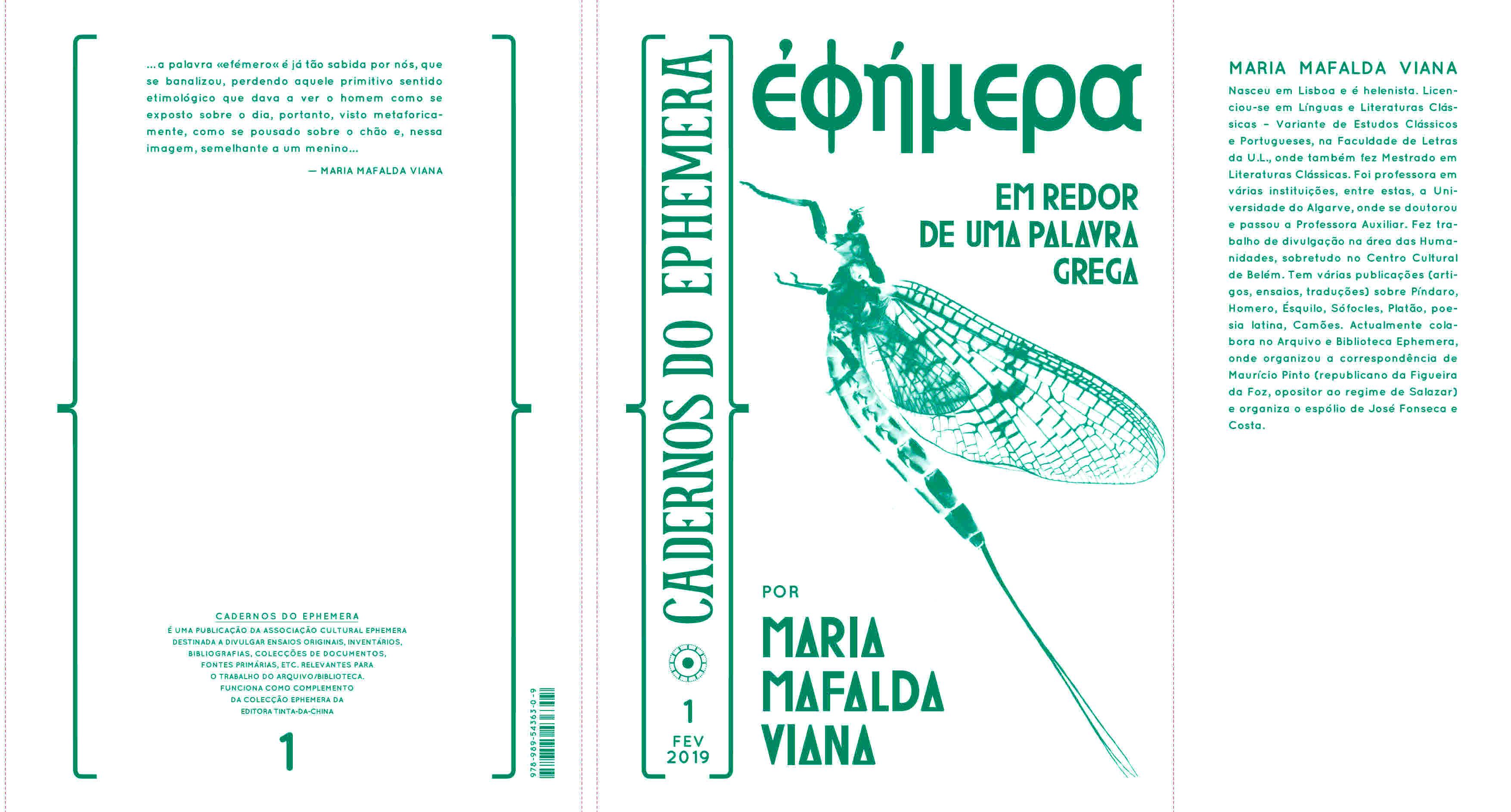 9d466c5cd CADERNOS DO EPHEMERA Nº1 – MARIA MAFALDA VIANA – ἐφήμερα EM REDOR DE UMA  PALAVRA GREGA